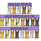 December 26th Birthday Cartoon Cats. by KateTaylor
