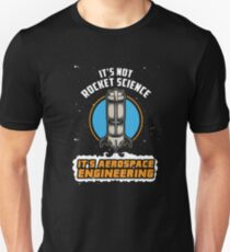 Rocket Science Aerospace Engineering - Funny Aviation Quotes Gift Slim Fit T-Shirt