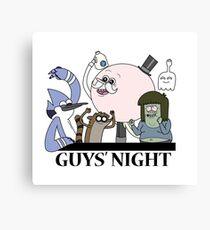Guys' Night Canvas Print