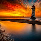 Old Lighthouse Sunset  by Adrian Evans