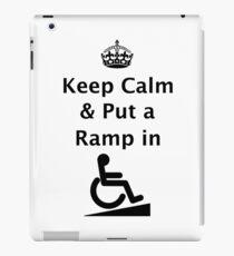 Keep Calm & Put a Ramp in iPad Case/Skin