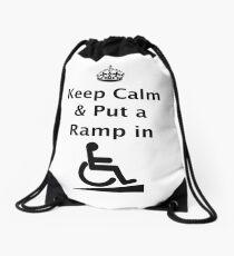 Keep Calm & Put a Ramp in Drawstring Bag