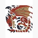 Monster Hunter World Rathalos Monster Icon Design Art Board Print By Maxxypart Redbubble