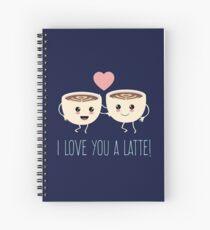 Love You A Latte Cute Gift Spiral Notebook