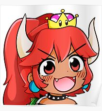 Redhead Bowsette Poster