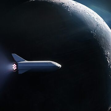 SpaceX's BFR Passing the Moon by bobbooo