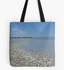 Shell, sand, sea and sky Tote Bag