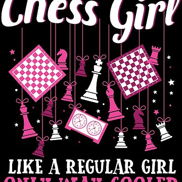 Chess Girl Master Player Funny Women Female Gift by kh123856