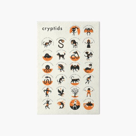 CRYPTIDS A-Z Art Board Print