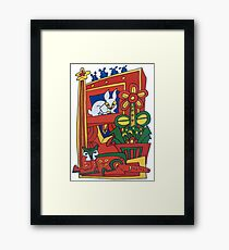 The Bunny and the Cat Framed Print