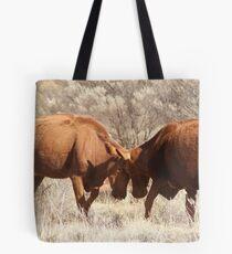 Cow tussle Tote Bag