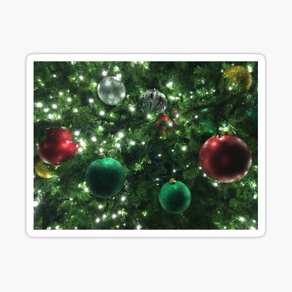 Christmas Baubles Sticker