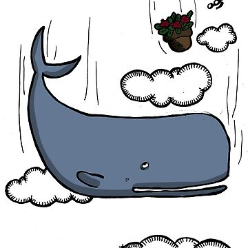 Sperm whale and petunias by LucyNuzit