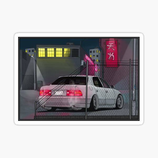 LS400 VIP car scene Sticker