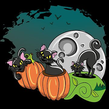 Black Cats and Jack O Lanterns for Halloween by highparkoutlet