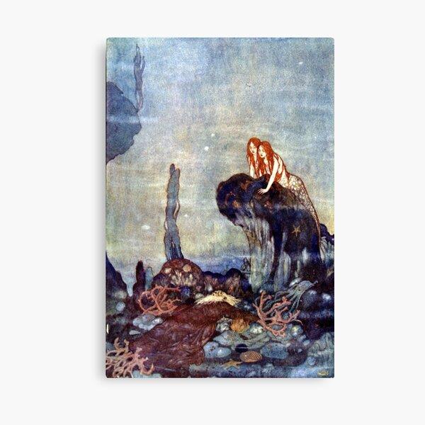 Full Fathom Five - The Tempest - Edmund Dulac Canvas Print