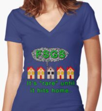 Hits Home Women's Fitted V-Neck T-Shirt