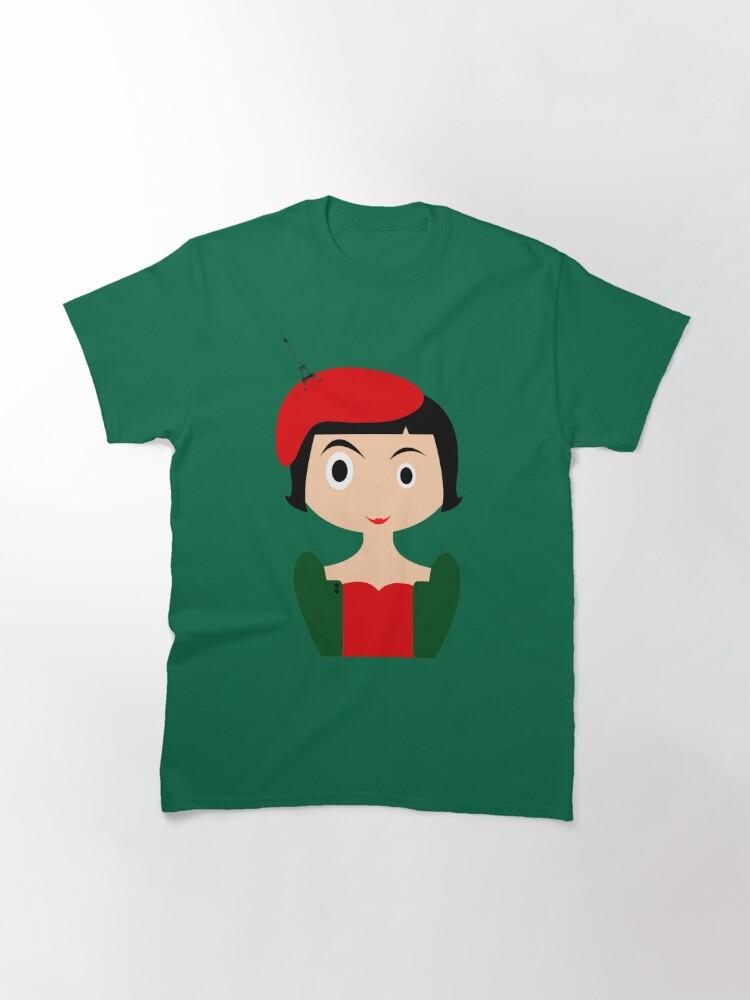 Vista alternativa de Camiseta clásica Amelie