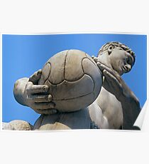 Football Player Statue, Foro Italico, Italy  Poster