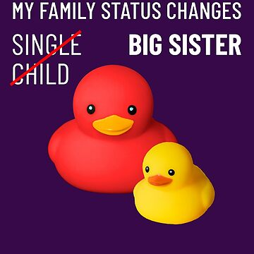 Sister t-shirt funny baby announcement cute rubber ducks by peter2art