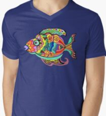 Funky Fish Men's V-Neck T-Shirt