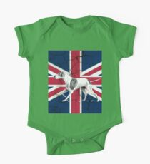 grunge UK fashion Union Jack Flag English pointer One Piece - Short Sleeve