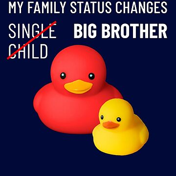 Brother funny baby announcement cute rubber ducks by peter2art