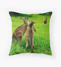 Left Hook Throw Pillow