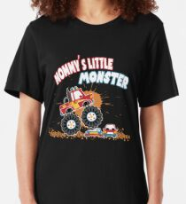 Mommy's Little Monster Truck Kids Big Size RC Car Slim Fit T-Shirt