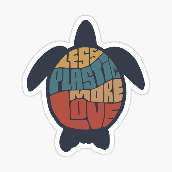 Less Plastic More Love -  Turtle Sticker