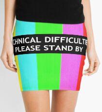 Technical Difficulties TV Test Card  Mini Skirt