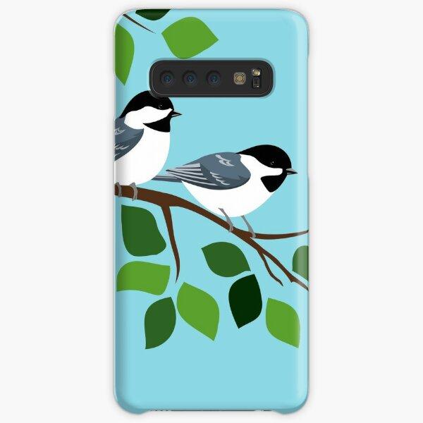 Black Capped Chickadee Bird Art Samsung Galaxy Snap Case