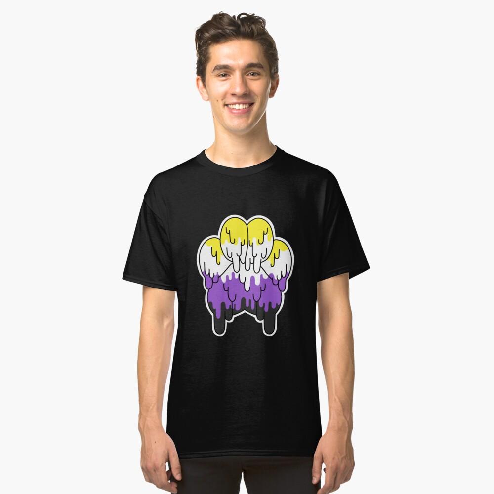Nicht binäre Stolz-Tatze Classic T-Shirt