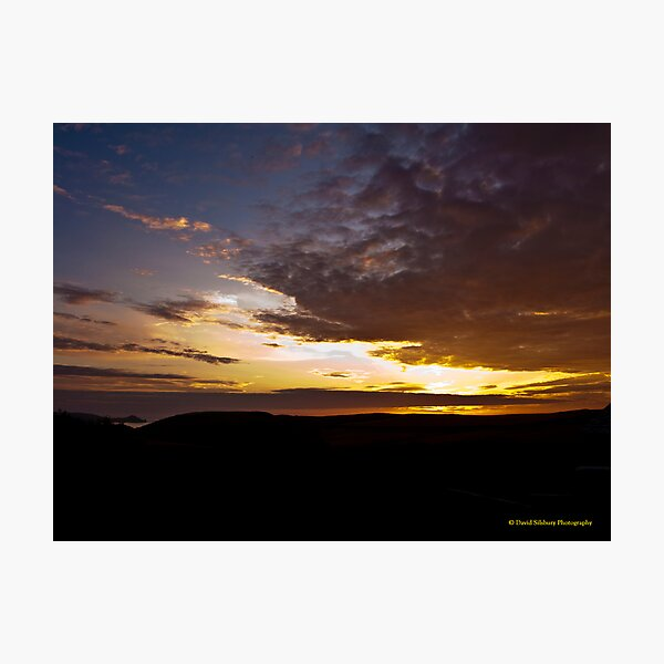 Sunset Over Port Quin, Cornwall Photographic Print
