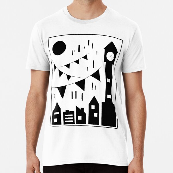 Flags Hanging Over the City Premium T-Shirt