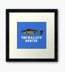 The Walleye Hunter funny fishing design Framed Print