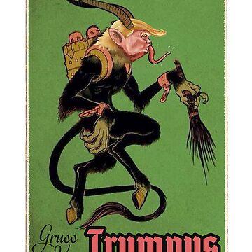 Krampus Trumpus Christmas T-shirt by Intune