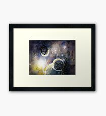 Out There Watercolor Framed Print
