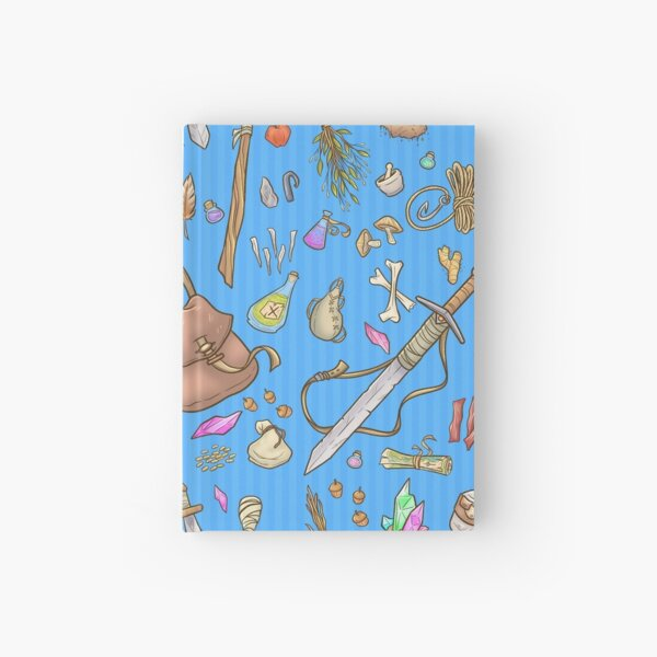 Dangerous To Go Alone - D&D Inventory (blue) Hardcover Journal