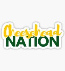 cheesehead nation Sticker