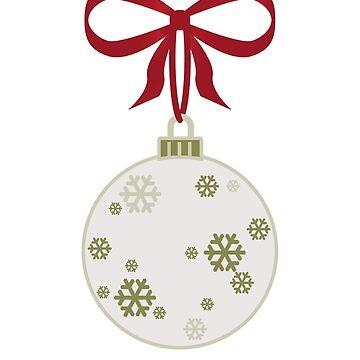 Christmas Snowflake Bauble by fundog