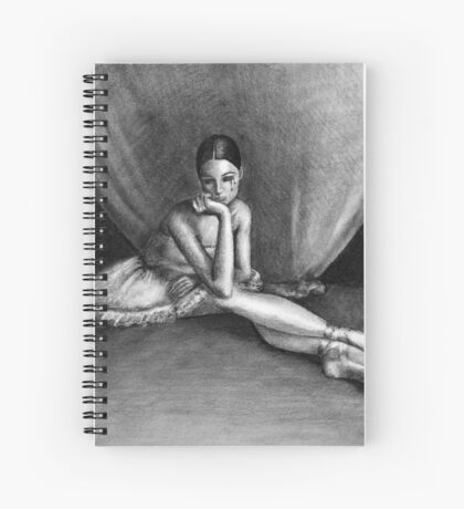 Sad Ballerina Spiral Notebook