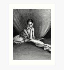 Sad Ballerina Art Print