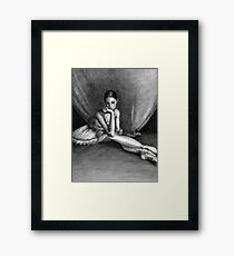 Sad Ballerina Framed Print