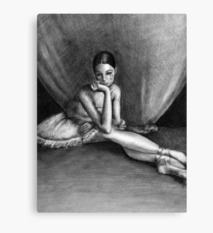Sad Ballerina Canvas Print