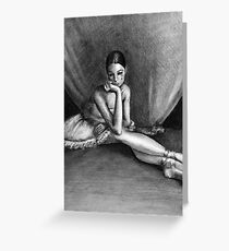 Sad Ballerina Greeting Card