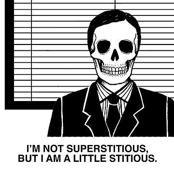 Skeleton Michael Scott - The Office - Halloween Dunder Mifflin by tolson89