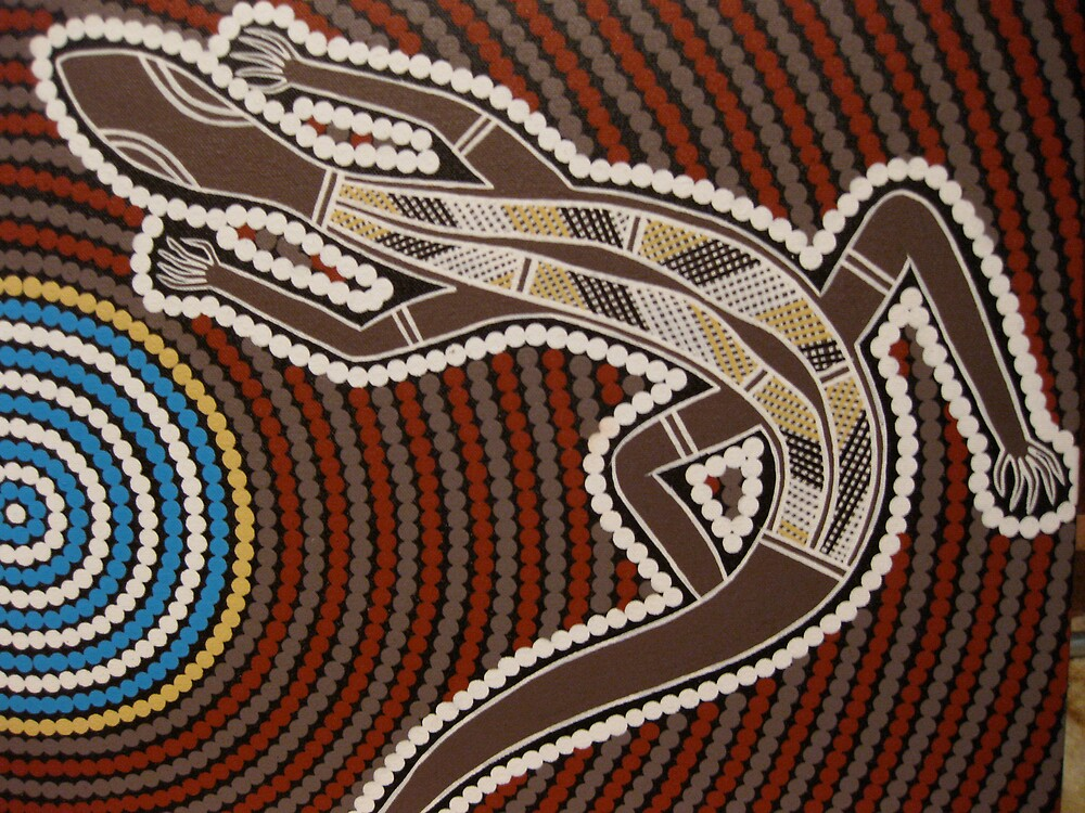 Goanna by Australian Aboriginal artist David Williams by aboriginalart