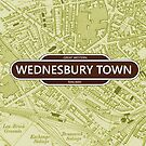 Great Western Railway - Wednesbury Town Map by danbadgeruk