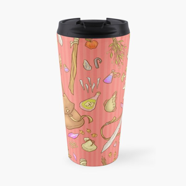 Dangerous To Go Alone - D&D Inventory (red) Travel Mug